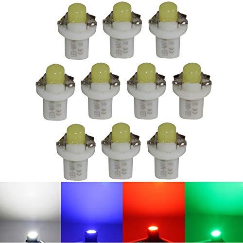 LED-Mafia B85d COB Lot de 10 éclairages de comptoirs Blanc/bleu/rouge