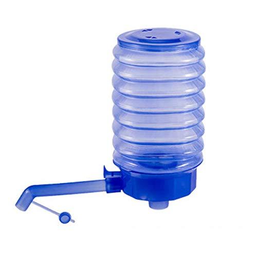 Zoomne Fasspumpe Haushalts tragbare Kunststoff-Kleinwerkzeug-Handdruck-Wasserflaschenpumpe,Blau,17 * 8,8 * 14,6 cm