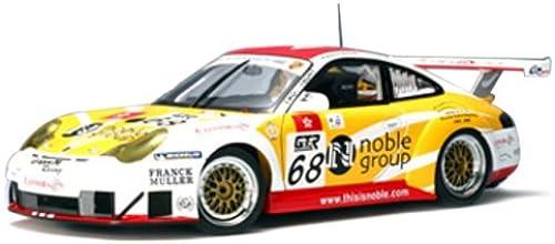 AUTOart DRUCKGUSS-Modell Porsche 911  GT3 R    in Weißund gelb