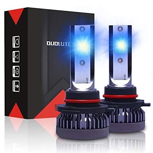 DUOLUTONG 9006/HB4 LED Headlight Bulbs, 60W 10000LM 8000K Super Bright Blue Headlights,360°Adjustable Low Beam Fog Light Halogen Replacement Conversion Kit,Pack of 2
