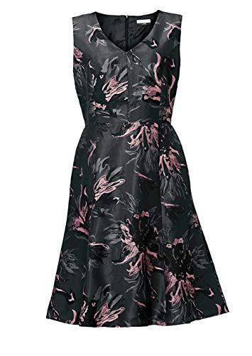 Guido Maria Kretschmer Exklusives Kleid Modern Deluxe Designer-Jacquardkleid, anthrazit-rosa