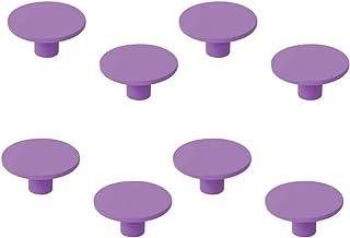8 stuks meubelknoppen van ABS-kunsthars, gelakt, paars, voor kinderen, diameter