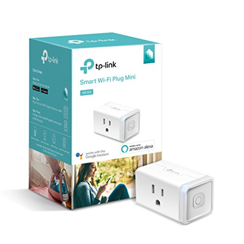 Kasa Smart Plug by TP-Link, Smart Home WiFi Outlet works with Alexa, Echo,Google Home & IFTTT,No Hub Required, Remote Control, 15 Amp, UL certified, 1-Pack (HS105)