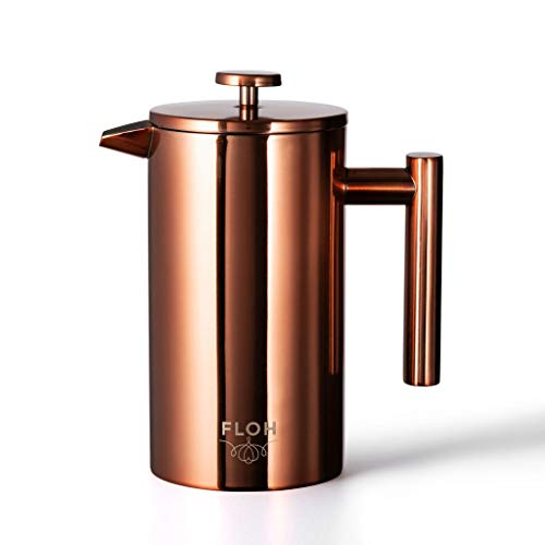 FLOH French Press in Rose Gold Copper