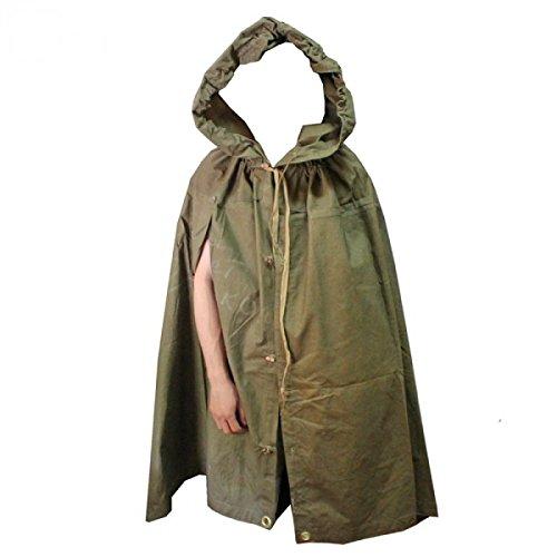 NOBRAND Made in Ussr Originele Sovjet Russische leger WWII Type Soldaat Veld Canvas Mantel Tent Regenjas Poncho Plasch-palatka met Leer Draagband door S.U.R.& R.Auto Onderdelen