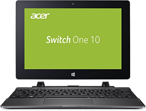 Acer Switch One 10 (SW1-011-11CY) 25,35 cm (10,1 Zoll HD Multi-Touch IPS) 2-in-1 Notebook (Intel Atom x5-Z8300, 4GB RAM, 64GB eMMC, Win 10 Home) anthrazit