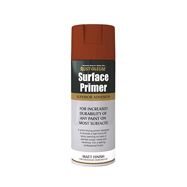 Rust-Oleum AE0040030E8 400ml Surface Primer Spray Paint-Red Matt, Applicable