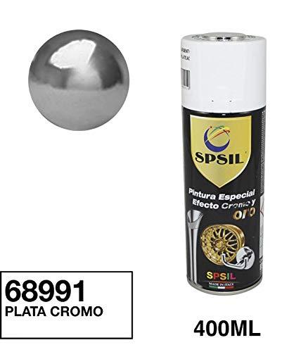 Spsil 68991 Pintura Spray Especial Efecto Plata Cromado 400 Ml
