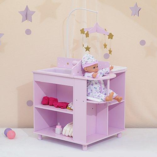 Puppen-Wickeltisch Puppenschrank Puppenzubehör Spielzeug Olivias World TD-0203AP