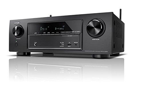 Denon AVRX1300WBKE2 7.2-Kanal AV-Receiver (Dolby Atmos, dtsX, WLAN, Bluetooth, Spotify Connect, 5 Plus 1 HDMI 3D, 4K, HDCP 2.2, 7x 145 Watt) schwarz