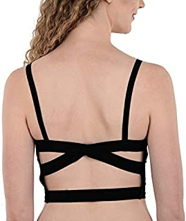 Brachy Women's Padded Cross Back Straps Bralette Top Bra (Free Size:28 to 36 Bust Size) (Removable Pad) BCA_CCPBC01_Free Size