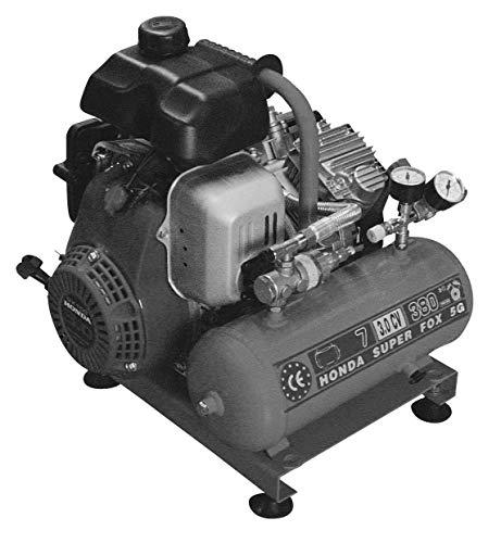 Compressor BAV 20 verrijdbaar met Hondamotor 20 l ketel 300 l/min. Vermogen 3 pk / 2,2 kW.