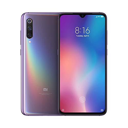 """Xiaomi Mi 9 – Smartphone de AMOLED de 6,39"""" (4G, Octa Core Qualcomm SD 855 2.8 GHz, RAM de 6 GB, Memoria de 64 GB, cámara Triple de 12 + 48 + 16 MP, Android) Color Morado Lavanda [Versión española]"""