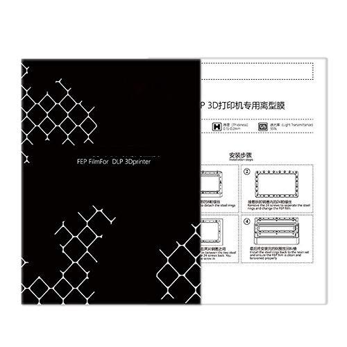 XBaofu for DLP/LCD 3D-Drucker-Teile FEP Film 140x200mm Fep Blätter 0.15-0.2mm for ANYCUBIC Photon Harz UV-Licht 3D-Drucker Impresora (Größe : 5pcs)