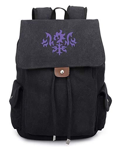 WANHONGYUE Fate Grand Order Anime Drawstring Backpack Rucksack Bolso de Escuela Bolsa de Lona Mochila de Viaje/Black
