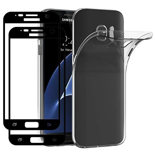 ivoler Funda para Samsung Galaxy S7 con 2 Unidades [Cobertura Completa] Cristal...
