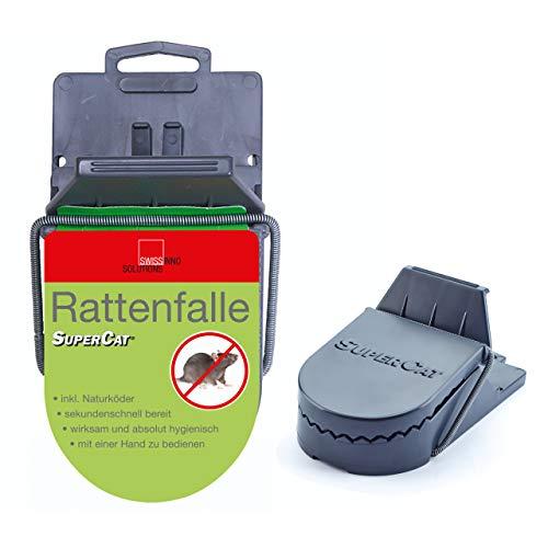 Preisvergleich Produktbild SuperCat Rattenfalle: Effiziente Schlagfalle inkl. giftfreiem Natur-Rattenköder,  einsatzbereit,  1er Set