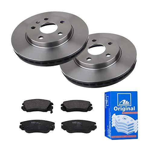 Preisvergleich Produktbild 2 Bremsscheiben Ø296 Belüftet + Bremsbeläge ATE Vorne P-A-01-00605 Bremsanlage