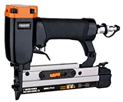 """Nailed It: This pneumatic pinner uses 23 gauge headless pin nails ranging from 1/2"""" to 1"""". It features a lightweight and durable aluminum body, ergonomic grip handle, reversible belt hook, and trigger with a safety mechanism that prevents accidental ..."""