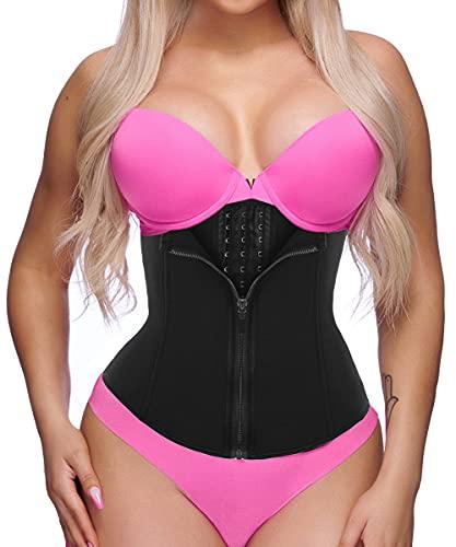 GainKee Clip and Zip Waist Trainer Corset Women Neoprene Workout Sweat Vest Body Shaper (Medium,...