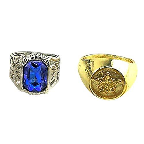 2st Black Butler Paare Ringe Cosplay Props Ciel Phantomhive Crystal Blue Und Golden Schmuck Geschenk Für Ihren Partner