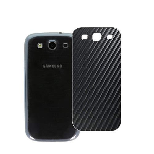 VacFun 2 Piezas Protector de pantalla Posterior, compatible con Samsung I9301I Galaxy S3 Neo, Película de Trasera de Fibra de carbono negra