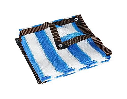 ZZYE Malla Sombreo 85% de Tela de Color Azul/Blanco, Cubiertas de Plantas, Malla de Sol, Red de jardín Red Resistente a los Rayos UV, más fácil de Colgar, para Invernadero Flores Plantas Patio céspe