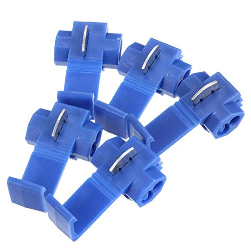 JCMY Módulo de relevo Scotch Bloqueo de Empalme rápido 18-14 AWG Cable Azul del Conector 50pcs Kit de componentes electrónicos