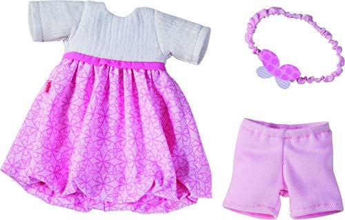 HABA 305555 - Kleiderset Traumkleid, Set aus Kleid, Haarband und Hose, Puppenzubehör für alle 32 cm großen HABA-Puppen, Spielzeug ab 18 Monaten