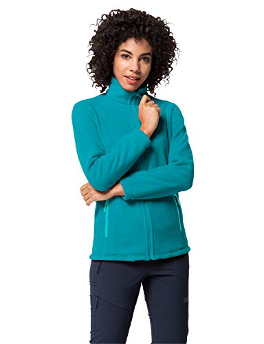 Jack Wolfskin Damen Midnight Moon Women Fleecejacke, Dark Cyan, XXL