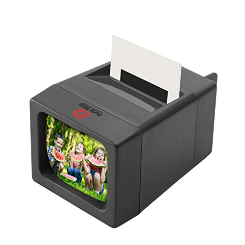 Porta Slide Illuminated Slide Viewer Battery Operated & Pressure Activated LED Transparency Viewer for 2x2 & 35mm Photographs, Film, Pictures Tabletop & Handheld Portable Device w/Cleaning Cloth 2AA Batteries Included