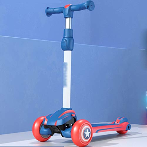 Best Deals! Scooters Self Balancing Safety Child 1-12 Year Old Male and Female Flash Tricycle Cartoo...