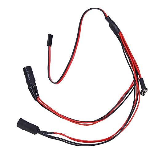 Repuesto de faros RC, luces LED compatibles, modificación de buen aspecto para coche con mando a distancia (blanco) (color: verde y blanco) (color: azul y blanco)