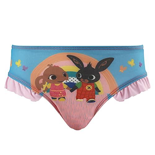 Bing Bunny - Bambina - Costume da Bagno Slip Monokini - Bikini 2 Pezzi - Intero con Volant Mare Piscina - Prodotto Originale [0131 Fucsia - 2-3 Anni]