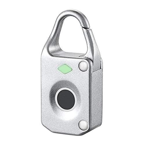 Sgxiyue Candado de Huellas Digitales Profesional Candado Inteligente electrónico No-contraseña Locker Locker Hogar Locker Anti-Theft Fingerprint Bloqueo (Color : A)