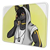 Anubis in A Hood Non-Slip Mousepad Gaming Computer Mouse Pad Gaming Desktop Laptop Mouse Pad with Stitched Edge 10x12 in