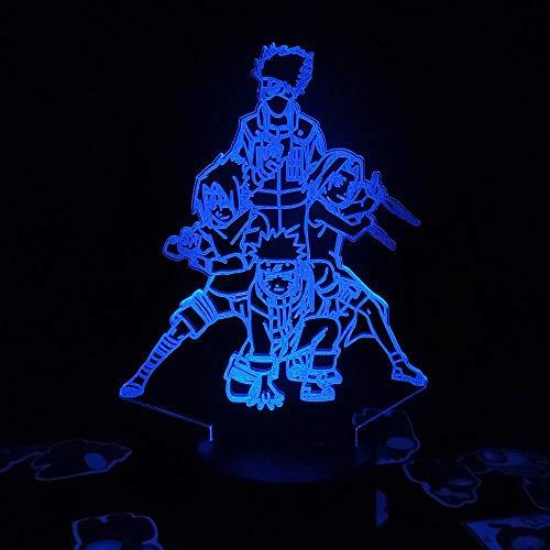 ASQWZX 3D-Nachtlicht, Team-7, 3D-Anime-Figur, Visualisierung, Nachtlicht, Geschenke für Kinder, LED-Lampe, RGB-Lampe auf dem Tisch, Manga-Fans, Desktop-Dekoration