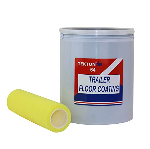 Trailer Floor Coating Protects Trailer Floors, Ramps and Walls (Grey, 1 Gallon) Includes 1 Foam Cover