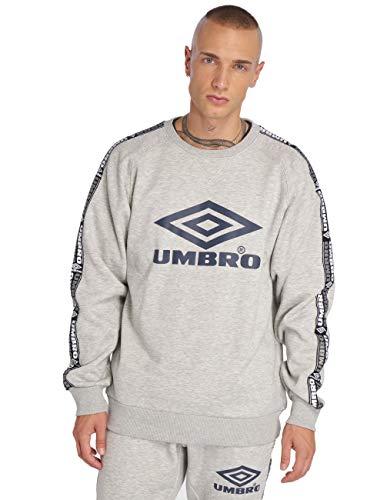 Umbro Sweatshirt Herren Taped Crew Sweat 263 Grey Marl, Größe:XL