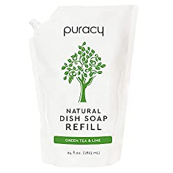 Image of Puracy Natural Dish Soap Refill Pouch