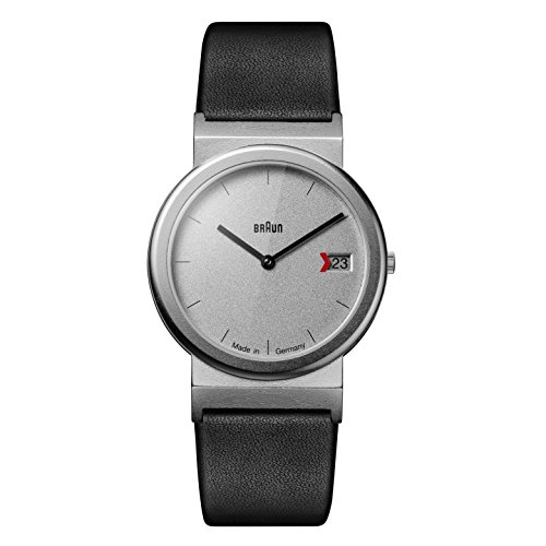 Braun Unisex Datum klassisch Quarz Uhr mit Leder Armband AW50