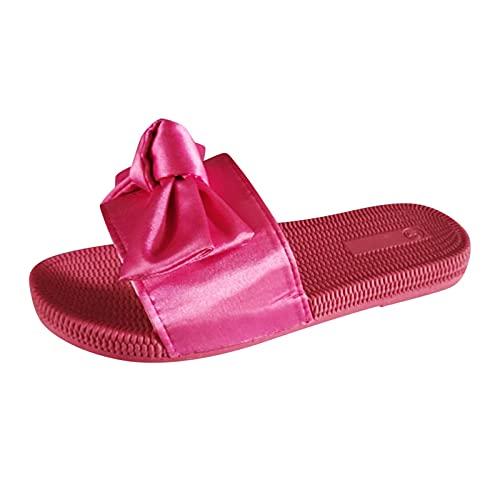 ciabatte spugna sandali pianta larga donna ciabatte donna zeppa arco plantar ciabatte bianche sposa sandali infradito donna bassi (21B-Hot Pink,40)