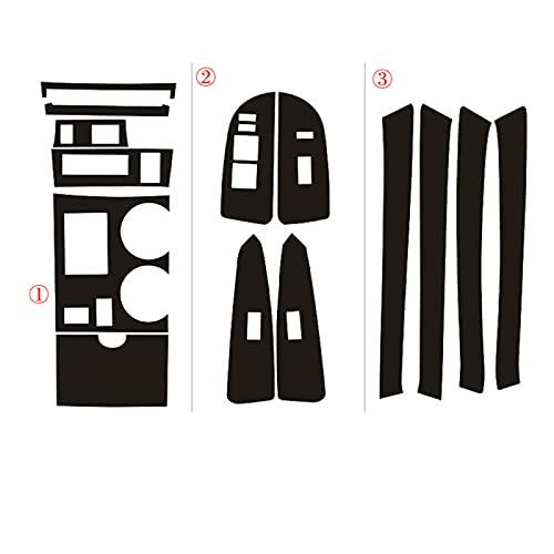 YWhjklb para Toyota, para Highlander 2009-2014 Panel de Control Central Interior manija de Puerta 5D Pegatinas de Fibra de Carbono calcomanías Accesorios de Estilo de Coche