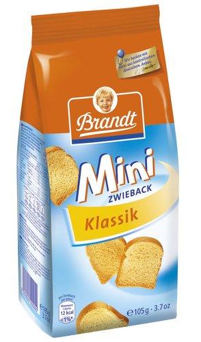 Brandt Mini-Zwieback Klassik, 12er Pack (12 x 105 g Packung)