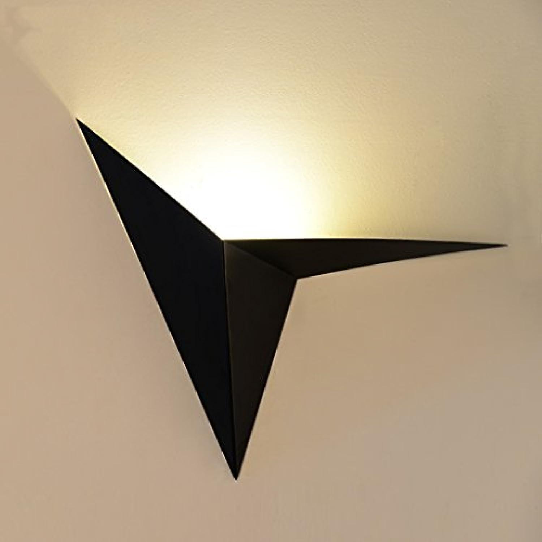 & Wandleuchten LED Eisen Wandleuchten, Schlafzimmer Nachttischlampe Wohnzimmer Balkon Gnge Treppen Wand (Farbe   Schwarz)