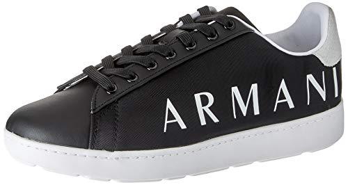 ARMANI EXCHANGE Copenhagen Logo Low Top, Scarpe da Ginnastica Uomo, Black OPT White, 44 EU