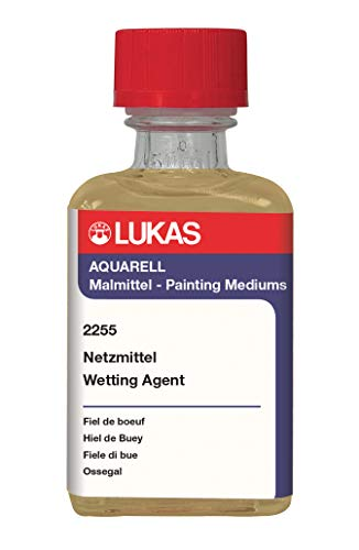 LUKAS Aquarell Watercolor Painting Medium - Wetting Agent (Ox Gall) 50 ml Bottle
