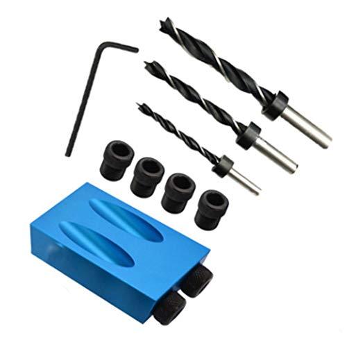 15 Gradi Tasca Foro Vite Jig Lavorazione Del Legno Angolo Guida Foratura Angolo Tool Kit 6/8/10mm Fori
