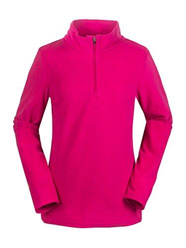 aparso Damen Microfleece Pullover mit Stehkragen Skirolli Dünn Atmungsaktiv (L, Pink)