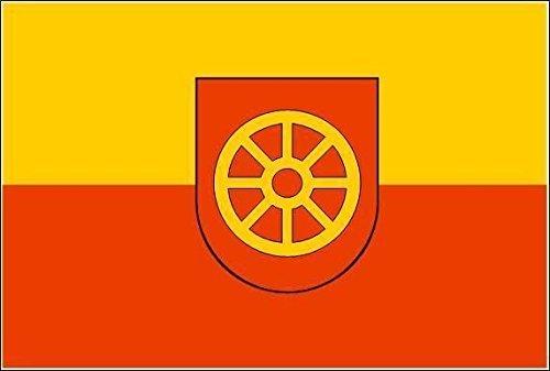 Baden Fahne Flagge 20 x 30 cm U24 Motorradflagge Oberkirch